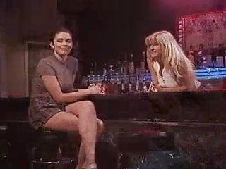 Move status bar from side to bottom - Lesbian pornstars in a bar from no mans land 16