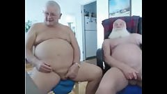 two grandpa on cam