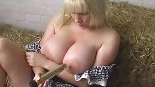 Busy British Blonde Masturbates
