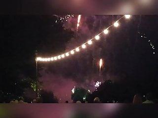 Firework ass Indian ass watching fireworks display