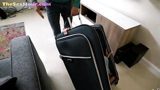 Petite Asian babe blows guy after getting fucked