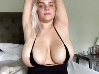 Biggest tits weighted and clamped - White girl with biggest tits ever part 2
