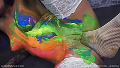 Rainbow Pantyhose Jessica - Queensnake.com - Queensect.com