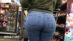 dirty Beautifull PAWG Ass In Jeans Candid painful anal