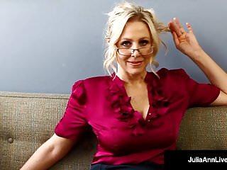 Angel ann pussy showing Bad teacher milf julia ann shows you pov naughty pussy rubs