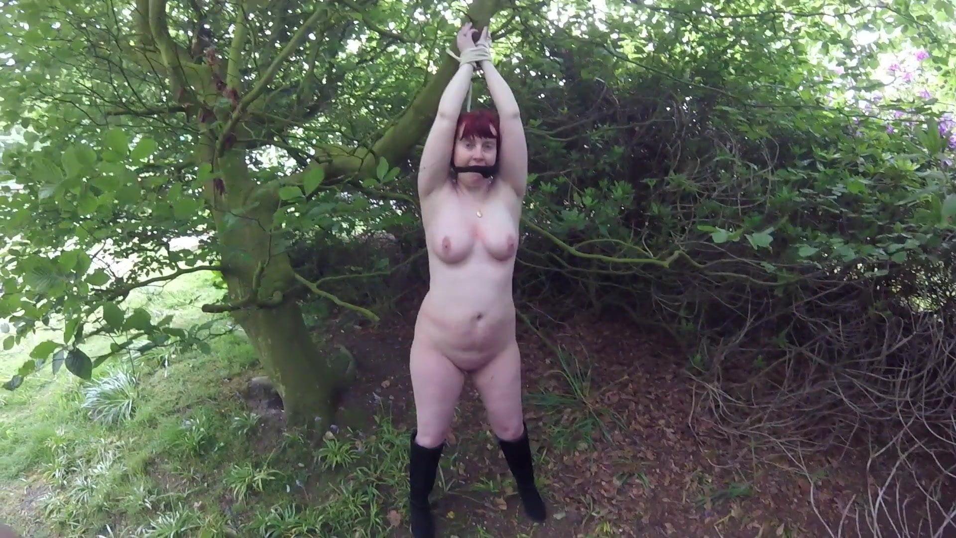 Left in woods bondage bdsm pornopics und gratis bondage sex clips