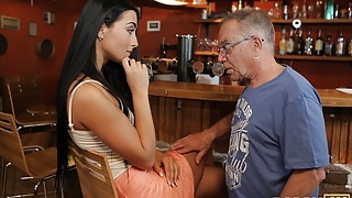 STEP DADDY4K. Alluring miss with sexy body gets with daddy