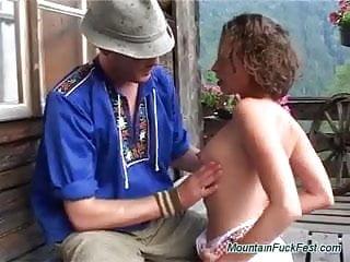All holes fucked Curly german whore has all holes fucked