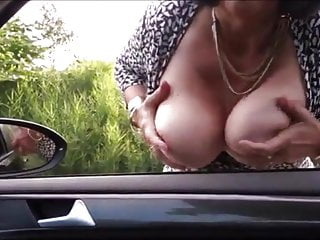 Masturbate with dogs - Breasted mature mom dogging and masturbating in the car