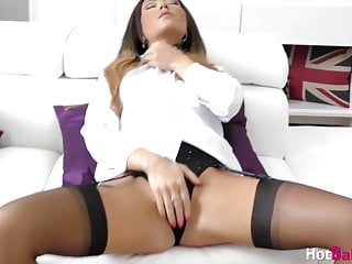 Cocktease femdom - Babe natalie forrest cocktease and masturbates in stockings