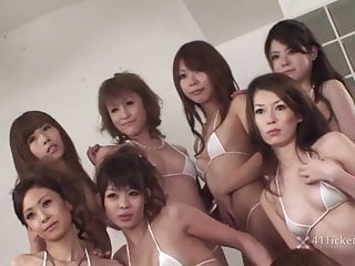 Top ten orgasm Wet hot orgy: ten girls moan uncensored jav