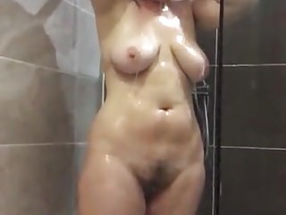 Sexy horny matures in shower - Sexy thick mature in shower