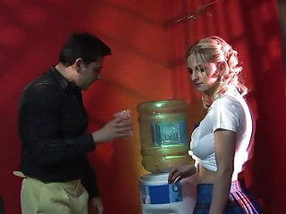 Blondes getting fucked doggystyle at Blonde delivers a steamy blowjob then get fucked doggystyle