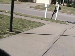Aseville nc mail escort - Nikki checking the mail