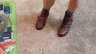 Hot tattooed lady with boots part two
