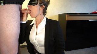 sexy secretary deepthroat and frontal sex - business-bitch
