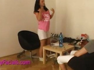 Busty czech - Facial cumshot for busty czech amateur