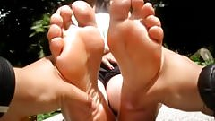 Young, wrinkled and sweaty soles Part 2 (Foot massage)