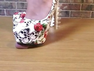 Cum shot image board Cock stomping on the board with bone heels till he cums