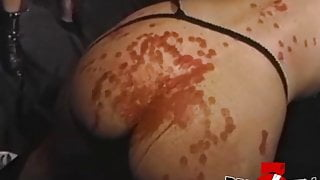 BRUCESEVENFILMS - Dyke Alexis Payne aroused by BDSM whipping