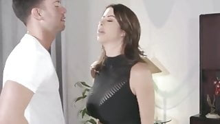 Son can't control sex with Horny stepmom Alexis fawx