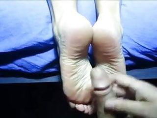 Dry handjob movies - Cum on dry soles