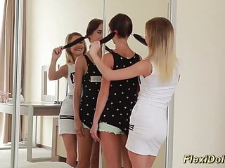 Real teen porntube Flexible real teen doll gets stretched