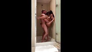 Cute Petite Girlfriend Fucked Hard In The Shower