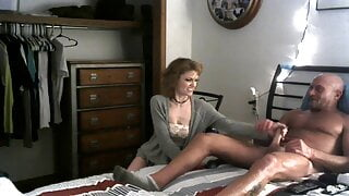 A handjob from my stepdaughter