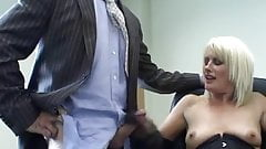 Suited daddy giving hot sex to his secretary in the office