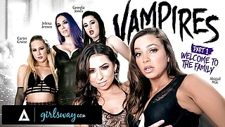GIRLSWAY – Abigail Mac Is Gangbanged Hard By A Vampire Coven