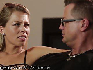 Xtube straight hairy pussy - Lesbian masseuse seduces straight girl zoey