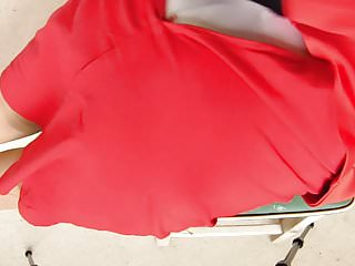 Lingerie knickers Red suit knickers and stockings