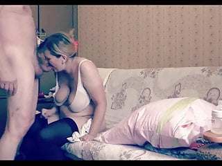 Amateur blonde stocking wife Russian homemade sex