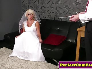 Cum covered busty - Busty british bride face covered in spunk pov
