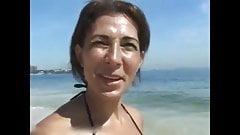 Sexy brazilian MILF vacation sex