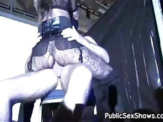 Naked fat strippers - Horny blonde stripper rides a fat cock