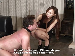 Female punishment pussy whipping Japanese female domination risa whipping and cbt punishment