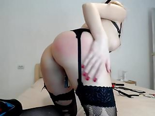 Tortured mature slut Cam-slut tortures herself
