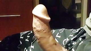 big curved cock cums with no hands