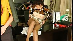 Russian Pantyhose Mature Fucked on the Table