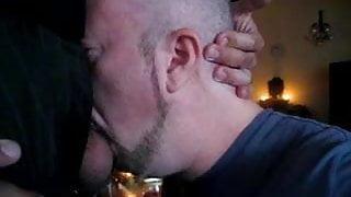 Deep Throating Guy in Suit Cum Swallow