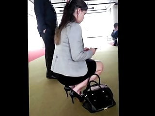 Sex women no legs video - Business women with heels and legs that goes for miles
