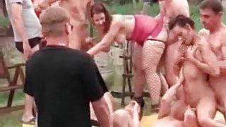 Velvet Swingers Club outdoor orgy