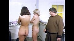 Best CMNF in classic German comedy. Stripping naked and ENF