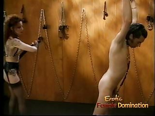Gay bondage boys - Foxy redhead wench enjoys whipping her extremely horny boy