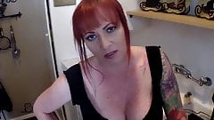 Big boobs redhead MILF in POV