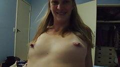 Amateur nervous, wife strips