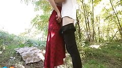 xh2lhvv outdoor upskirt fuck and creampie mom