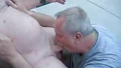 Older men sucking old grandpa's cock